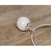 Breastmilk pearl pendant - keepsake jewelry