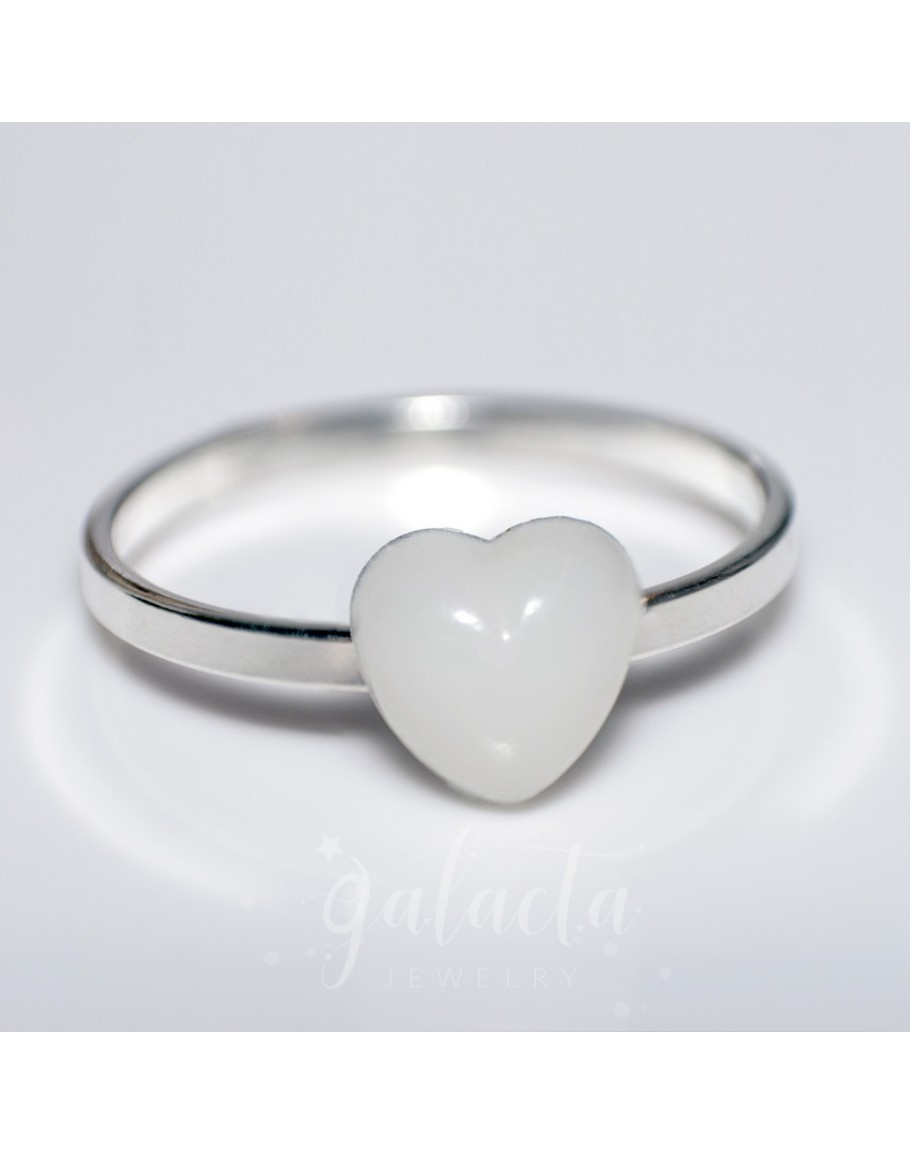Breast Milk Jewelry Heart Ring