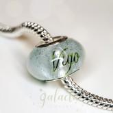 Green breastmilk infused bead charm