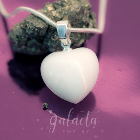 Heart shaped pendant made of breast milk