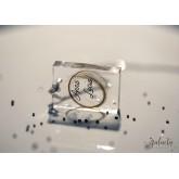 DNA keepsake jewelry transparent rectangular pendant