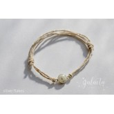 Adjustable bracelet with breastmilk stone and inclusions